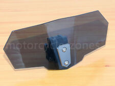 Motorcycle Adjustable Clip On Windshield Extension Spoiler Wind Deflector Smoke