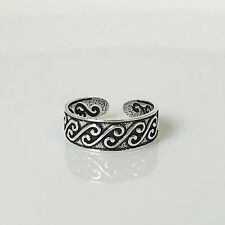 Summer Cute Beach Toe Ring New Solid 925 Sterling Silver Adjustable Bohemian