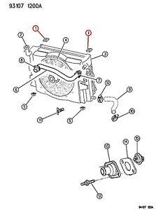 NOS Dodge OEM Upper Radiator Mounting Isolator 04644267 4644267 GRAND CARAVAN