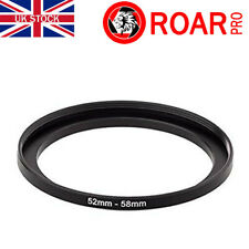 52-58mm Stepping Step-Up Ring Filter Adaptor 52mm to 58mm