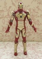 """Iron Man Action Figure 10"""" Tall Marvel Hasbro Iron Man Toy with Lights + Sounds"""