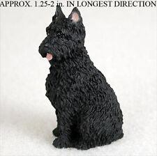 Bouvier Mini Resin Dog Figurine Statue Hand Painted