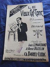 Partition Le Vieux Caf'Conc' Bérard 1925 Music Sheet