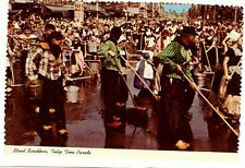 Dutch Street Scrubbers Tulip Time Parade Holland MI Michigan  Postcard