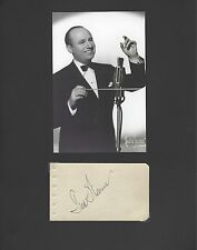 TED WEEMS BAND LEADER & MUSICIAN  SIGNED AUTOGRAPH DISPLAY