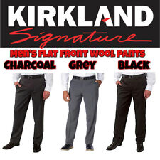 NEW Kirkland Signature Men's Wool Flat Front Dress Pant Slacks VARIETY