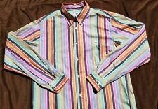 Lacoste Mens L/S Casual Button Front Shirt Multi Colour Striped Size 40