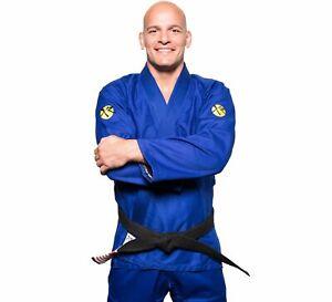 Fuji Sports Mens Classic Performance Brazilian Jiu Jitsu Gi Jiu-Jitsu BJJ - Blue
