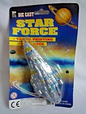 VINTAGE DIE CAST /  STAR FORCE / TAMPO PRINTING / PULL BACK SHIP / 28006