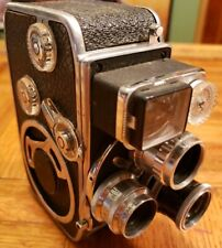 Bolex-Paillard D8L 8mm Film Cine Camera-3 lenses