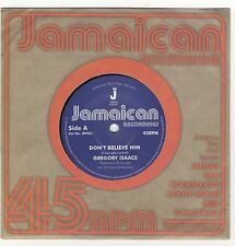 """Gregory Isaacs - Don't Believe Him / The Village LTD 7"""" NEW £4.99"""