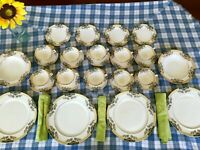 30 Pieces Set of Vintage Lenox THE ORCHARD Dinnerware Plates Cups Bowls Saucers