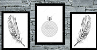 Set of 3 Wall Art Prints Dressing Room Bedroom Salon Poster Tufted Perfume Decor