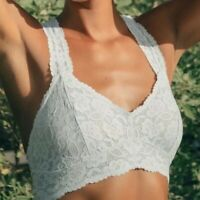 Intimately Free People Galloon Lace Racerback Light Blue Bralette NWT M Medium