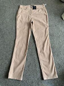 M&s Pale Pink Mid Rise Slim Cord Trouser Pants Size 10 L  BNWT Free Sameday P&p