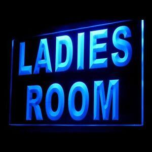 120056 Ladies Room Washroom Toilet Bathroom Display LED Light Neon Sign