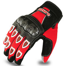 Motocross BMX Gloves Racing Motor Cycling, Offroad, Enduro, MTB, Red/Black Large