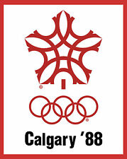 1988 Calgary Winter Olympic Poster - 8x10 Color Photo