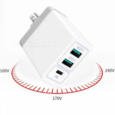 3-Port PD QC3.0 Fast Charging Adapter Charger for Cricket ZTE Grand X 3 Z959 USA