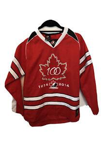 YOUTH Medium Hockey Jersey Official Team Canada 100th Anniversary