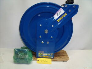 Coxreel CP-0666 Blue HOSE REEL with Arm Extension & Strain Reliever-50 ft? F/Shp