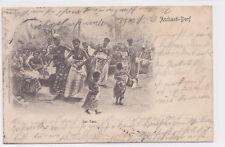 K 785 - West-Afrika, Aschanti-Dorf - Der Tanz, 1903 gelaufen