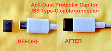 20x DUST CAP COVER USB TYPE-C CABLE CONNECTOR BLACK SILICONE RUBBER UNIVERSAL