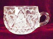 Antique Heart with Thumbprint Punch Cup Early American Pattern Glass Tarentum