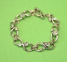 "$235 Patricia Locke Silver 7 5"" Endless Love Bracelet All Crystal Swarovski NWOT"