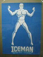 ICEMAN BLACK LIGHT PSYCHEDELIC VINTAGE POSTER GARAGE 1970'S SUPER HERO CNG1330