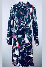 Adrienne Vittadini Women's Blue Neon Glow Belted Trench Coat /Light Coat Size 10