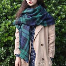 Women Winter Scotland Cashmere Soft Scarf Shawl Plaid Pashmina Large Stole Warm