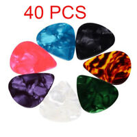 40PCS Multicolor Celluloid Acoustic Electric Guitar Picks Plectrums Thin 0.71mm