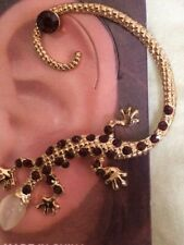 USA Gekko Lizard Earring Ear Cuff Wrap Stud Dragon RED Bohemian Brides Maid