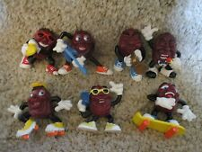California Raisins Vintage Late1980's Lot 7 sing dance horn band music toys part