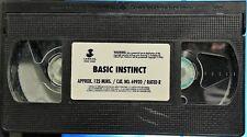 Basic Instinct (VHS, 1992) No Box Included