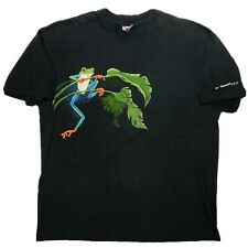 Vintage St. Thomas U.S. Virgin Island Frog Double Sided Graphic Mens XL T Shirt