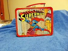 1967 SUPERMAN Comic Strip Animated LUNCHBOX  Good Condition
