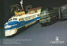 CHRISTIE'S Model Railway Marklin Trains and Accessories Auction Catalog 1995