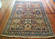 SUPERB  ANTIQUE HAND KNOTTED MAHAL PERSIAN WOOL PILE RUG