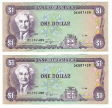 VF+ JAMAICA BANKNOTE P60b 2 DOLLARS