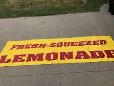 Lemonade banner sign advertisement heavy canvas for vendors or fundraisers 10'