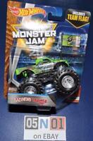 Hot Wheels Monster Jam BadNews Travels Fast Truck WithTeam Flag HTF Diecast NEW