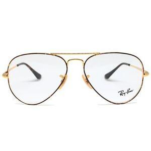 Sunglasses Of Eye Ray-Ban RX6489 Aviator 2945 Gold On Top Havana Cal.55