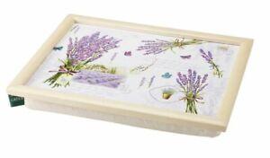 Bean Bag Cushion TV Dinner Lap Tray Lavender Fields Floral Butterflies Laptray