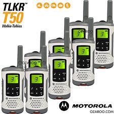 8 X Motorola Hablador tlkr T50 2 manera Walkie Talkie PMR 446 Radio ocho Pack Blanco