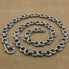 Cross Tribal Necklaces 316L Stainless Steel Mens Biker Punk Link Chain 4B006ND