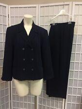 Norton McNoughton Woman Pant Suit Blue Dark Size 14 Professional