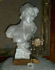 Art Nouveau Bust of Sappho Classical sculpture on a wooden stand Pearl