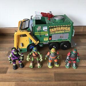 Teenage Mutant Ninja Turtles TNMT TACTICAL TRUCK Bin Wagon w/ 4 Figures VGC